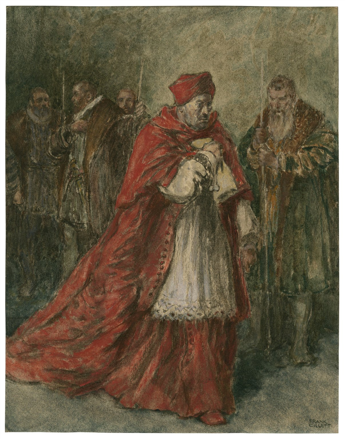 King Henry VIII, III, 2 : the dismissal of Cardinal Wolsey [graphic] / Frank Gillett.
