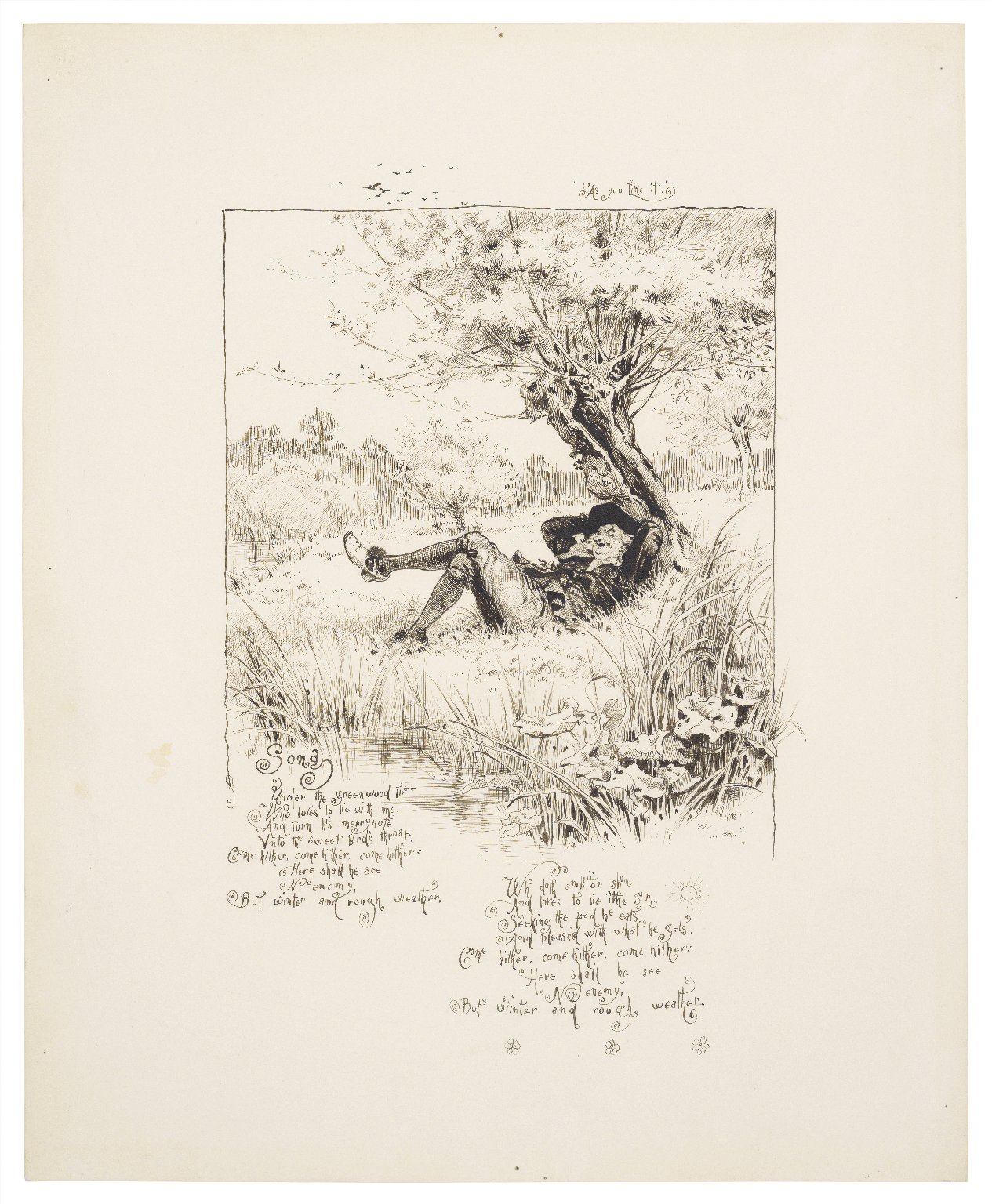 As you like it, song: Under the greenwood tree [graphic] / [Paul Hardy].