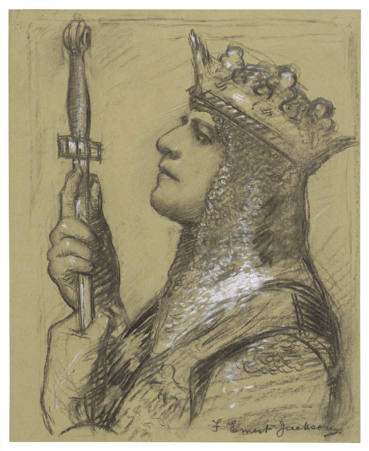 """[A special study of Mr. Lewis Waller as """"King Henry V"""" at the Imperial] [graphic] / F. Ernest Jackson."""
