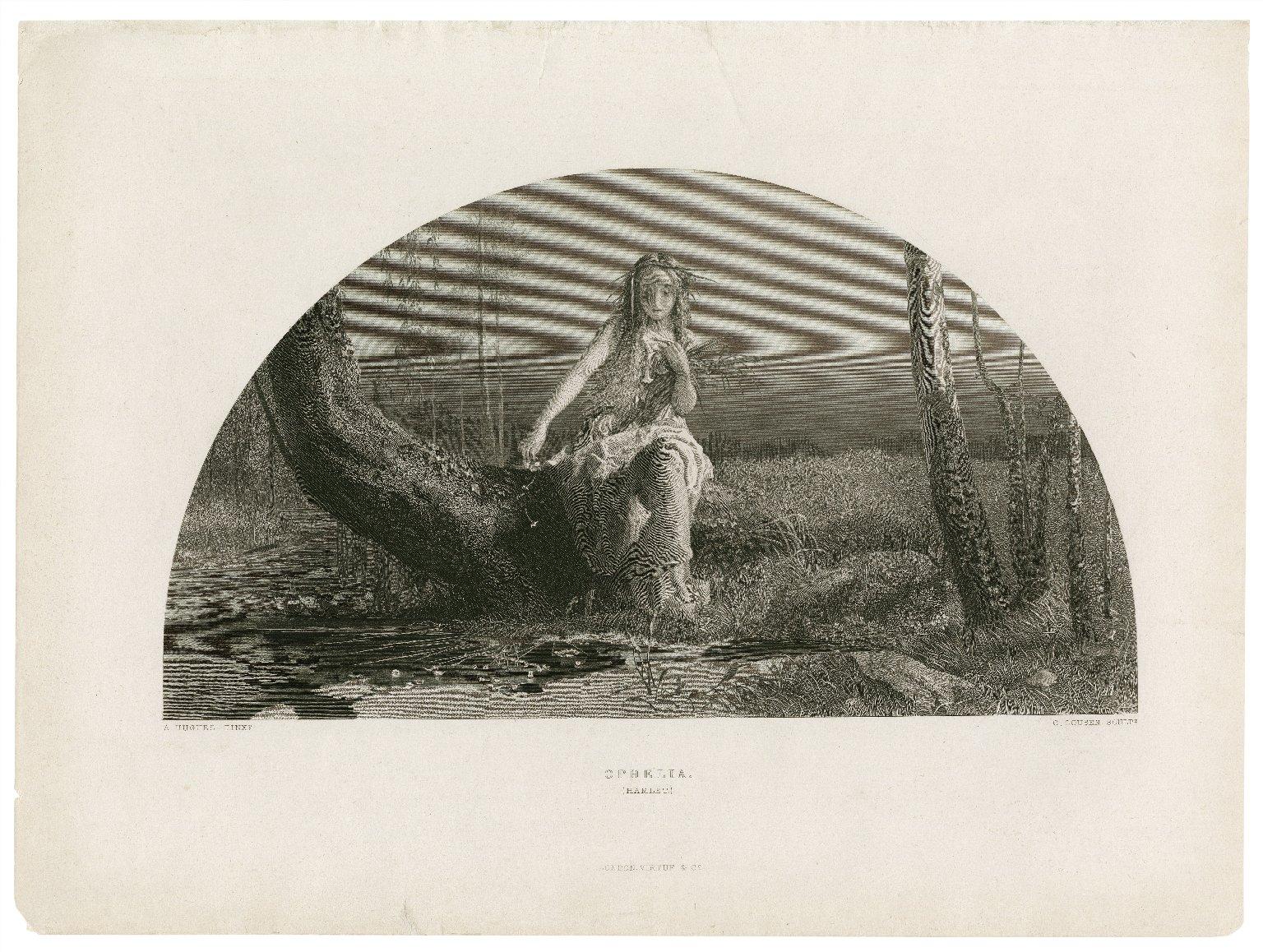Ophelia [character in] Hamlet [graphic] / A. Hughes pinxt. ; C. Cousen sculpt.