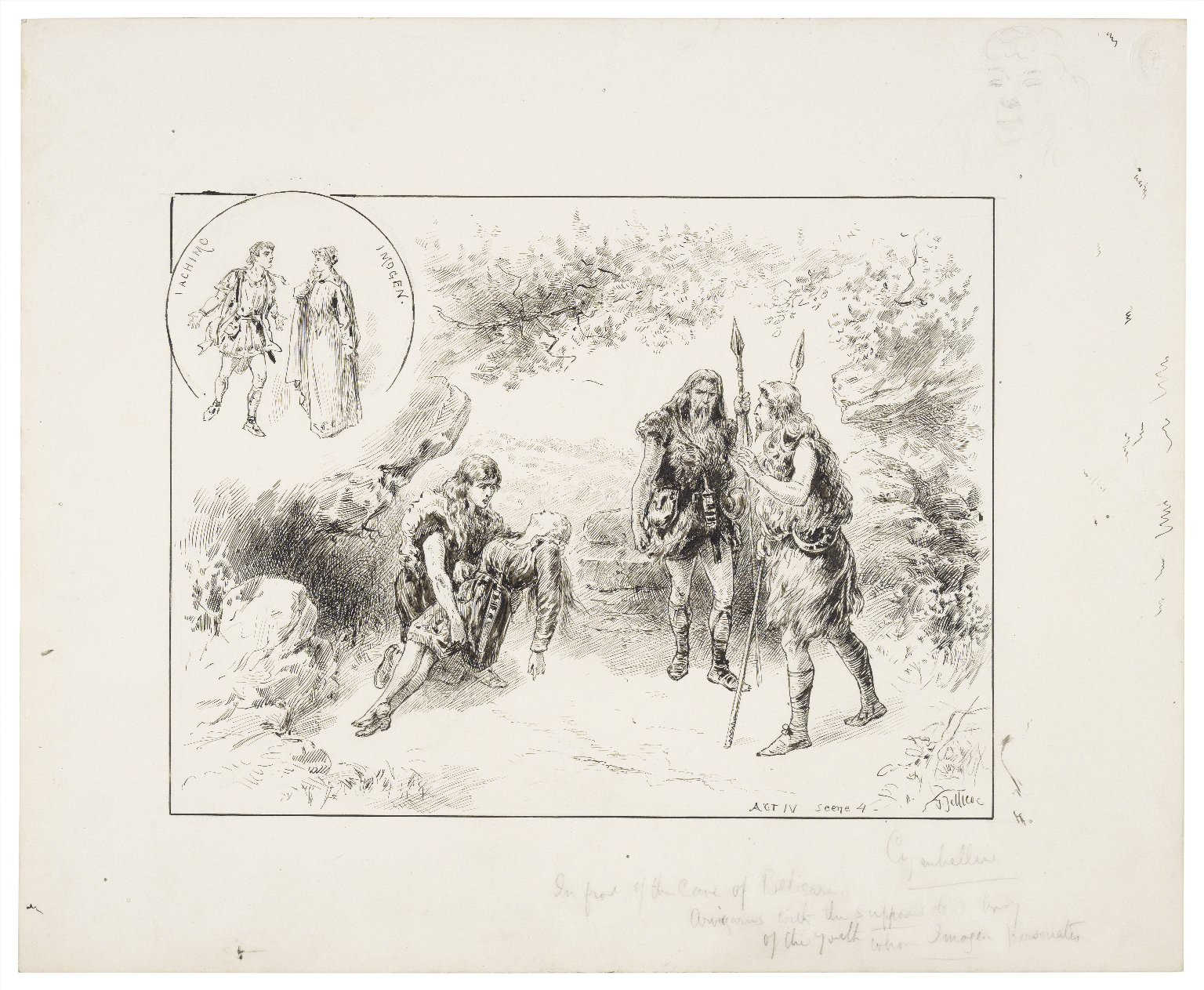 Cymbeline, IV, 4, by the Irving A.D.C., February 11, 1893 [graphic] / J. Jellicoe.