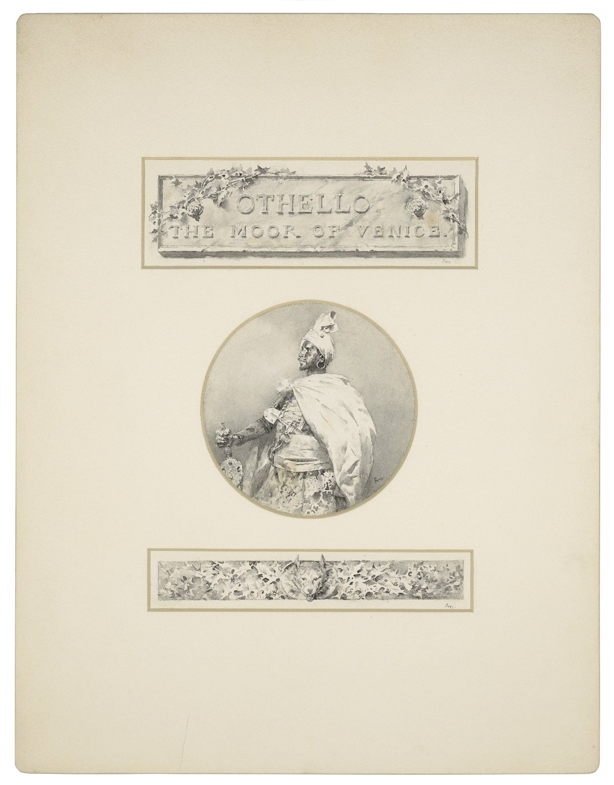 [Othello, title plate, portrait of Othello and tailpiece] [graphic] / L.M.