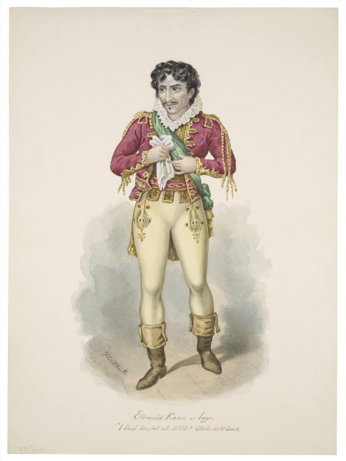 Edmund Kean as Iago [graphic] / [Victor Moblard].