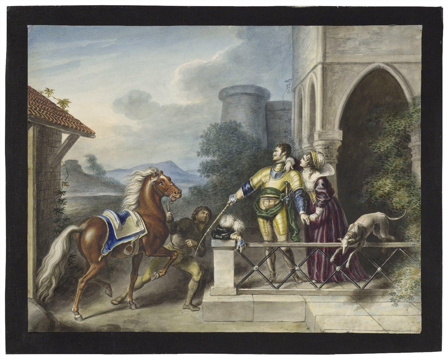 King Henry IV, pt. 1, II, 3, In faith I'll break thy little finger Harry [graphic] / [Johann Heinrich Ramberg].