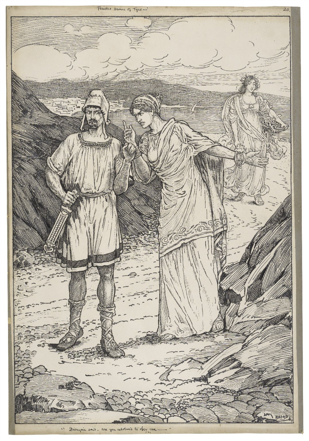 Pericles, Prince of Tyre. Dionysia [i.e. Dionyza] said - are you resolved to obey me [graphic] / Louis Rhead.