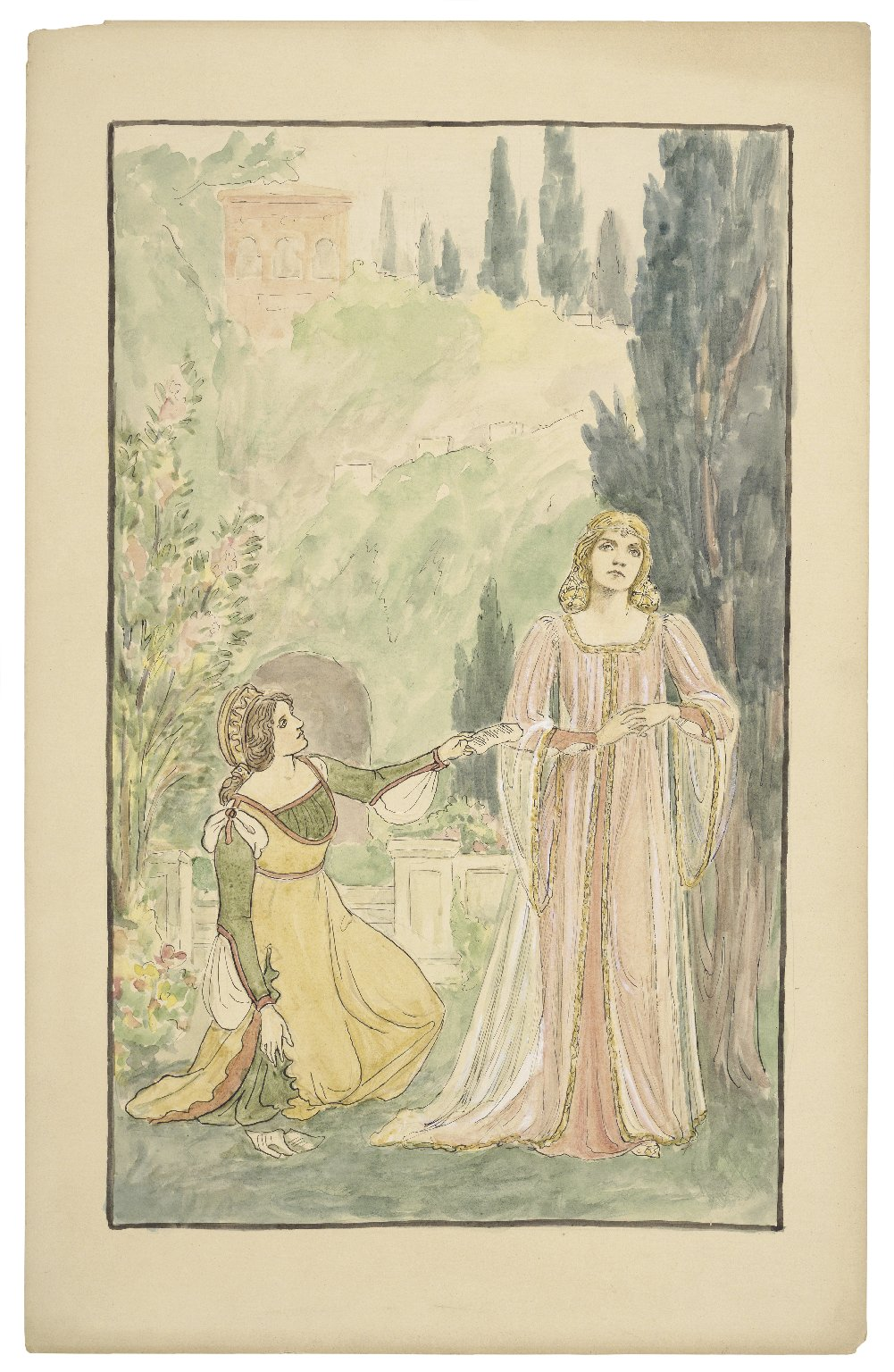 [Costume illustrations for the Daly productions of Cymbeline, Midsummer night's dream, and Two gentlemen of Verona] [graphic] / R.G.