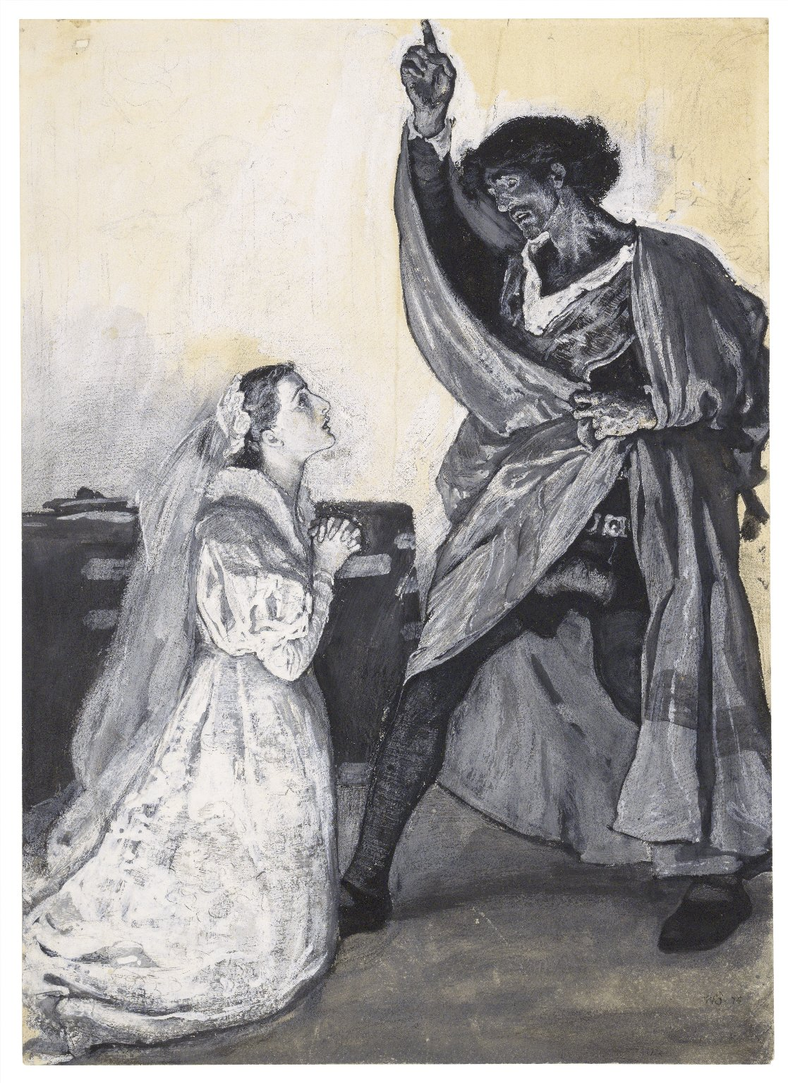 [Othello, Mr. Irving and Miss Bateman performing at the Lyceum, act IV, scene 2] [graphic] / W.S. '76.