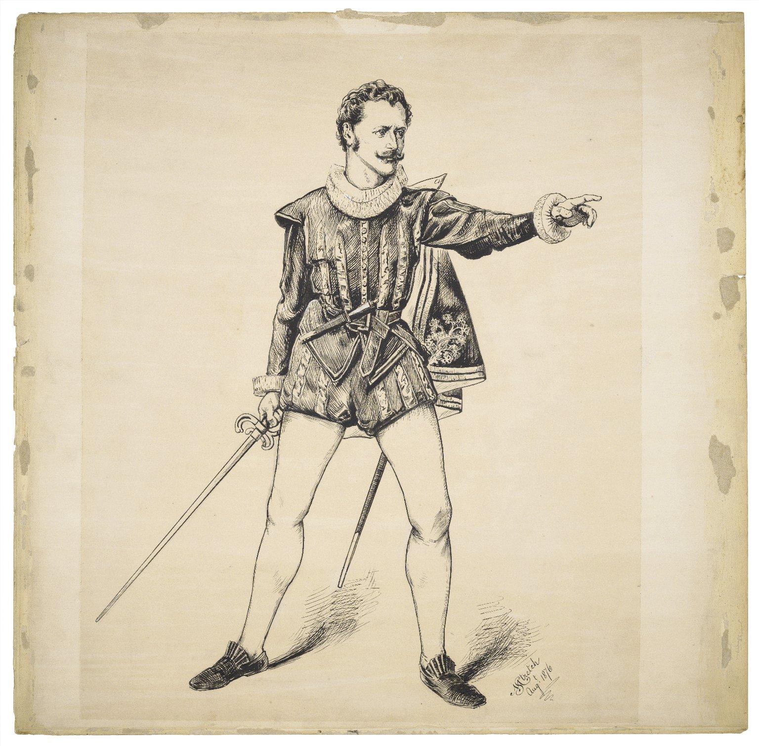 [Harry St. Maur as Mercutio] [graphic] / M. Stretch, Augt. 1876.
