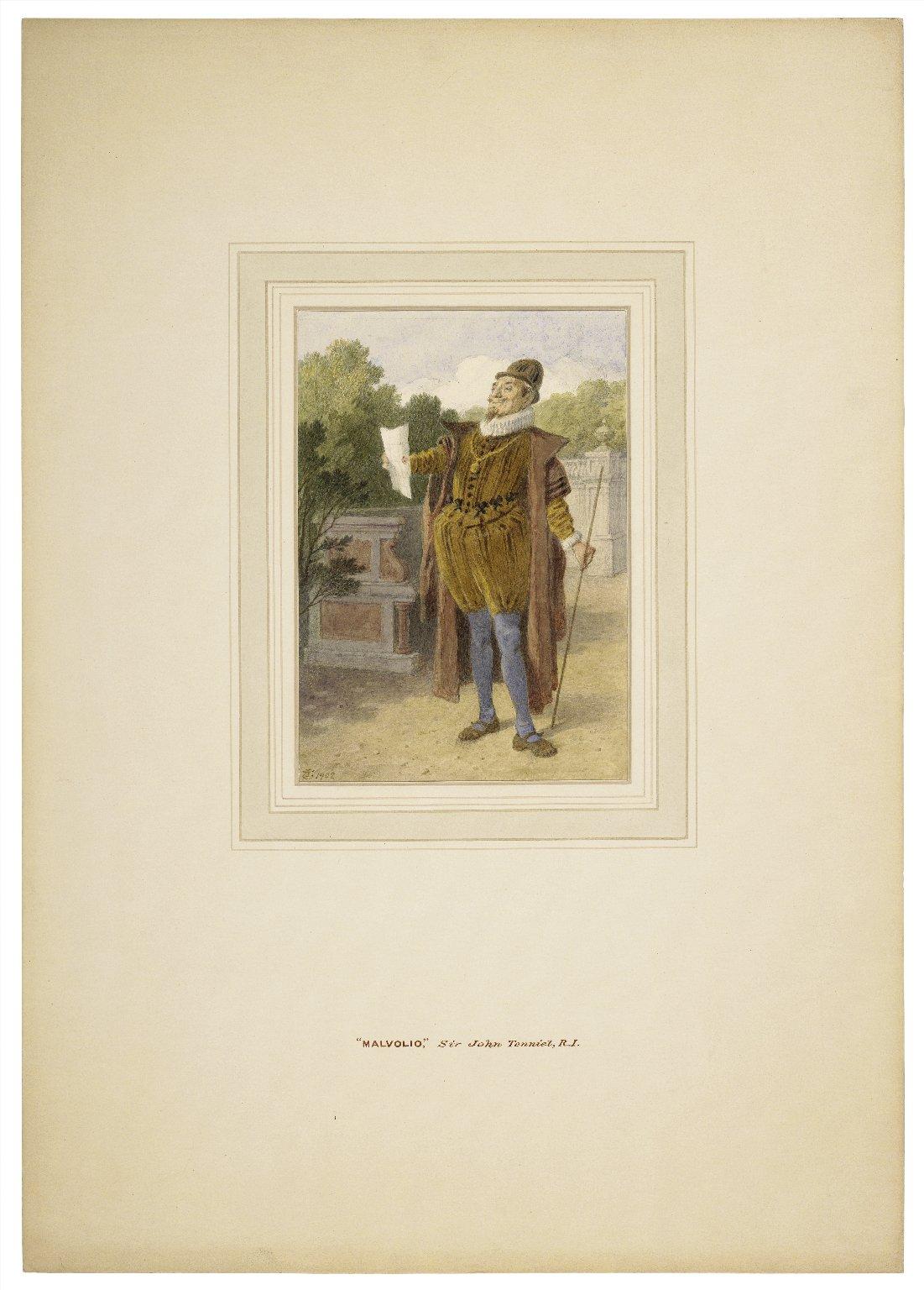 Twelfth night, Malvolio [graphic] / John Tenniel.