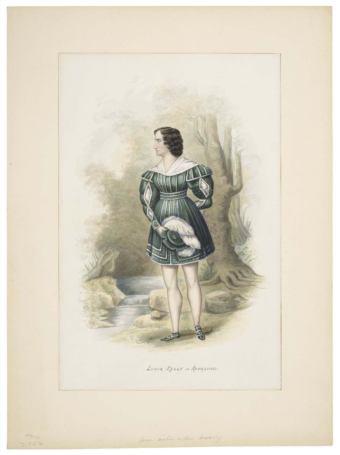 Lydia Kelly as Rosalind [in As you like it] [graphic] / [Augustus Toedteberg].