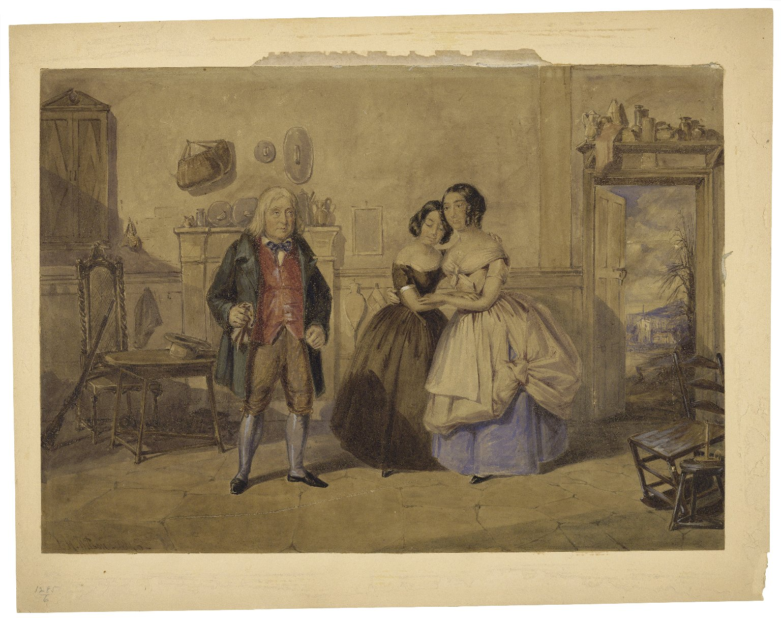 [Mr. and Mrs. Keeley in Cricket on the hearth] [graphic] / T.H. Wilson, 1846.