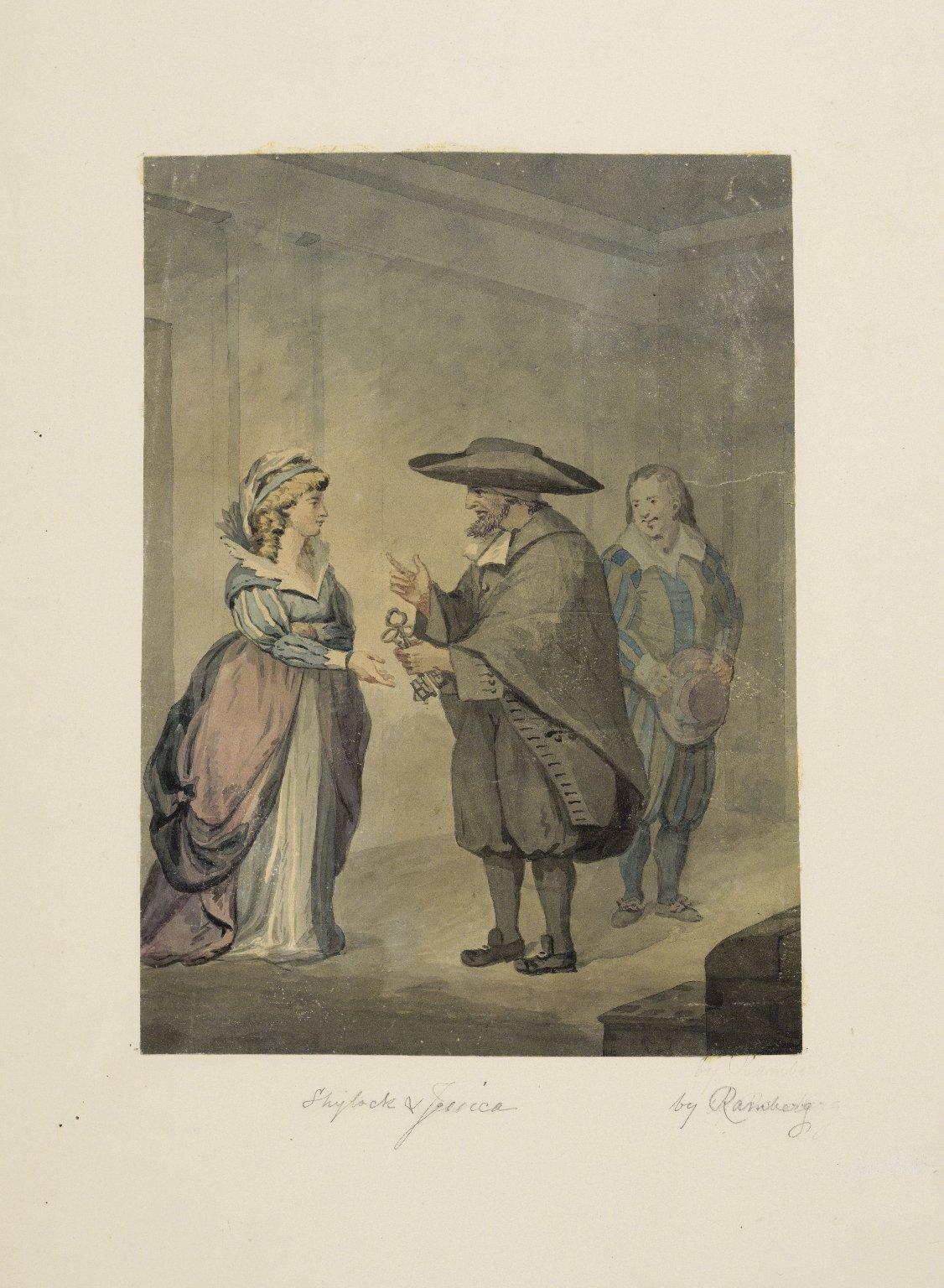 Merchant of Venice, Shylock and Jessica [graphic] / [Johann Heinrich Ramberg].