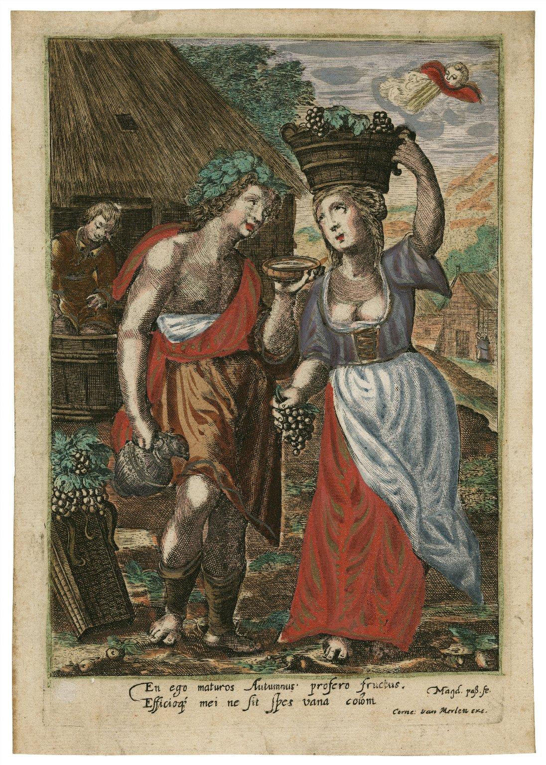 En ego maturos Autumnus profero fructus. Efficio[que] me ne sit spes vana colom [graphic] / Magd. Pass, fe.