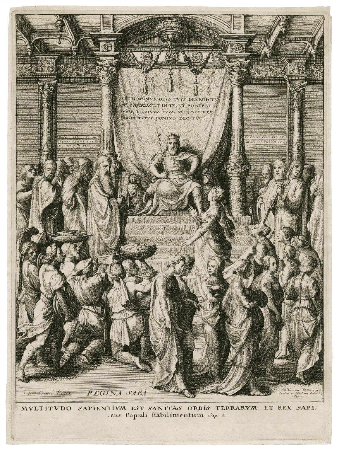 Multitudo sapientium est sanitas orbis terrarum, et rex sapiens populi stabilimentum, sap. 6 [graphic] / H. Holbein inu. ; W. Hollar fecit.