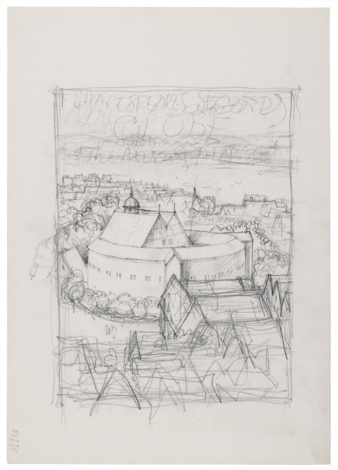 Exterior sketch of the Second Globe