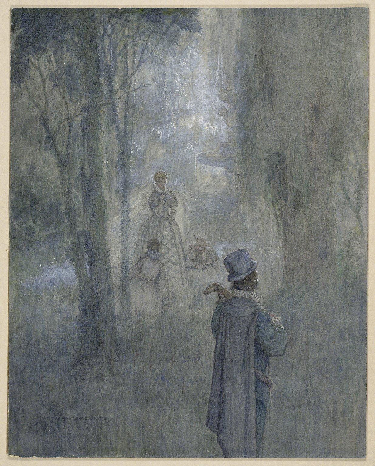 Illustration for Twelfth night, act I, sc 1 [graphic] / [William Robinson].