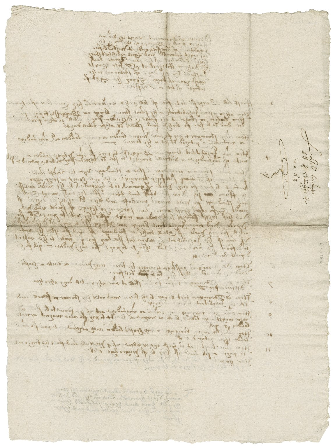 Articles of agreement between Geoffrey Blythe, Bishop of Chester (i.e., Lichfield and Coventry), and the inhabitants of Lichfield: copy