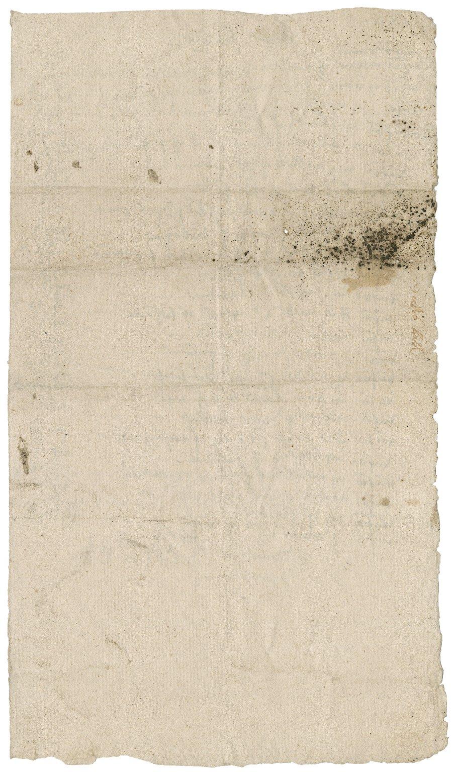 A mercer's or silkman's bill / by unidentified Bacon