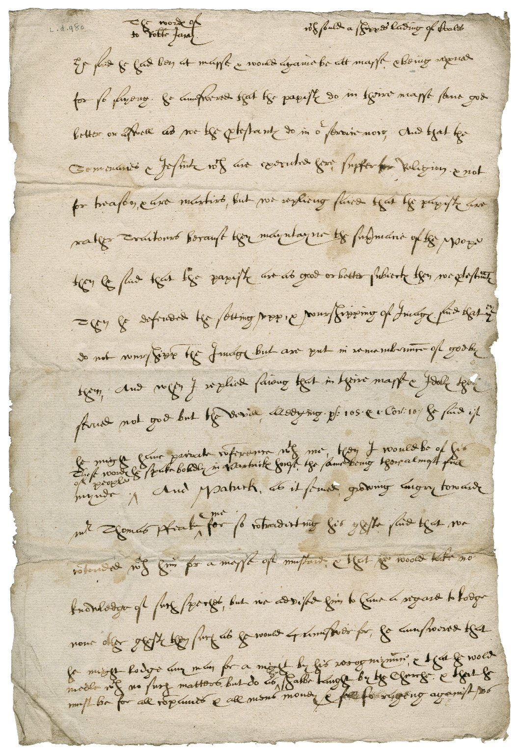 Account of a disputation between a Catholic and a Protestant