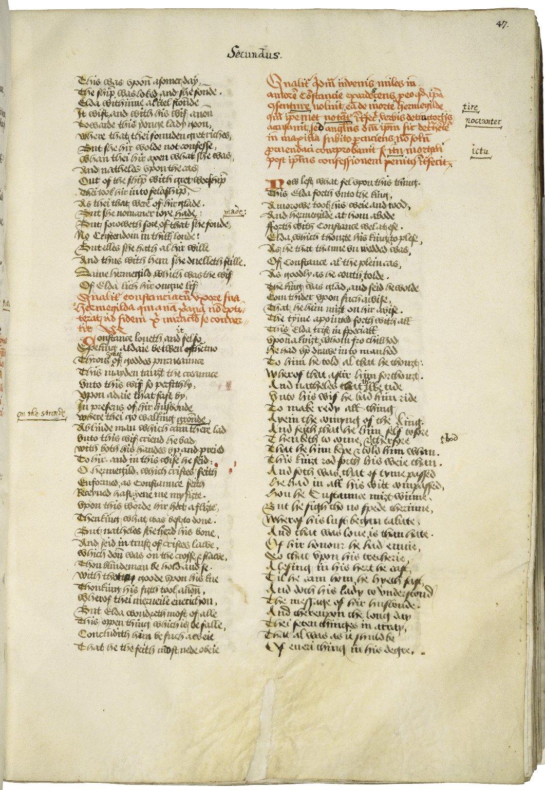 [Confessio amantis] De confessione amantis [manuscript], ca. mid-15th century.