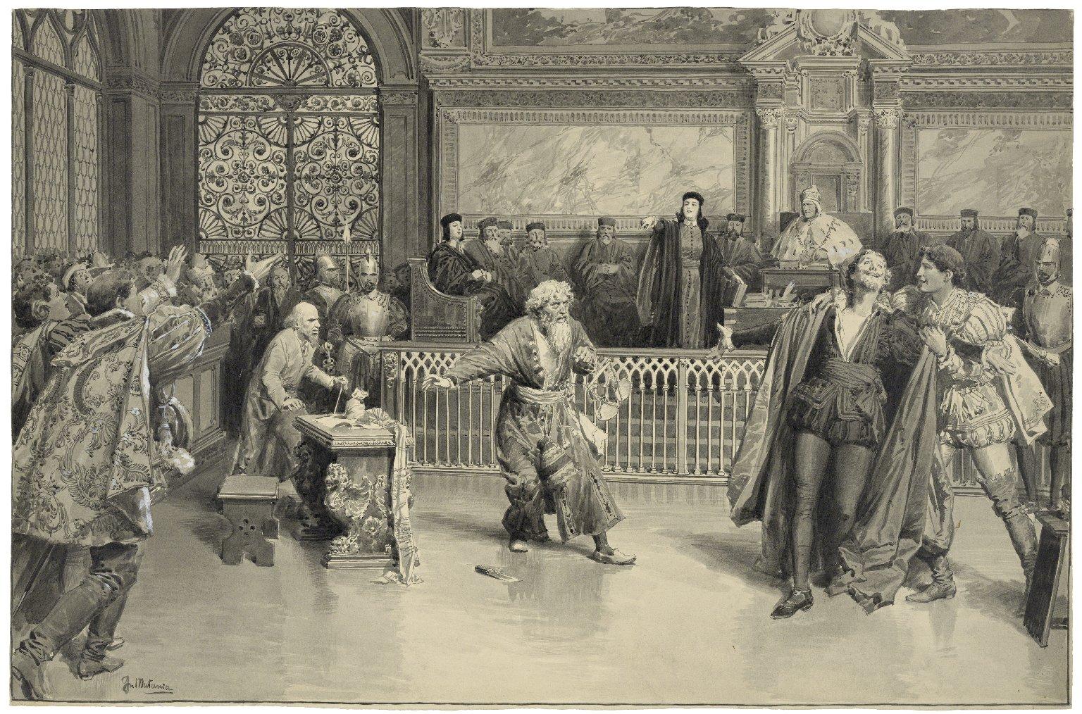 Scene from the Merchant of Venice