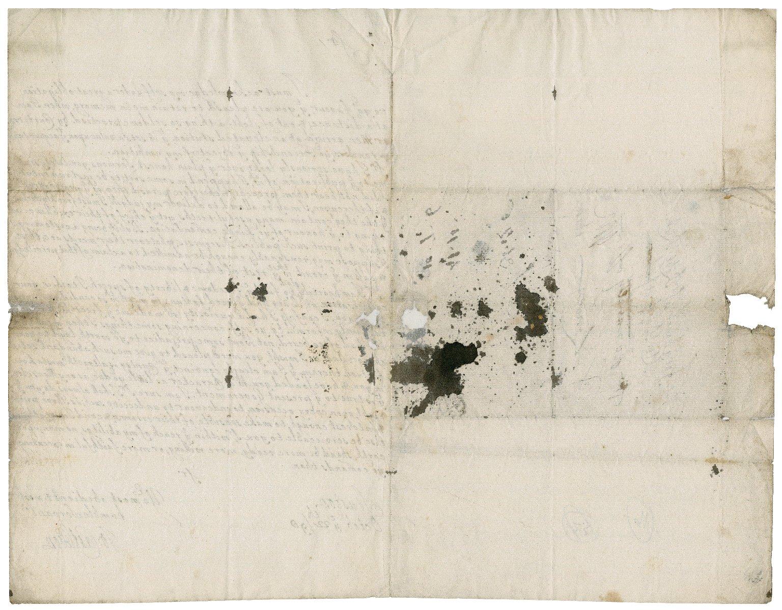 Letter from Sir John Castleton, Stuston, Suffolk, to Sir Robert Rich