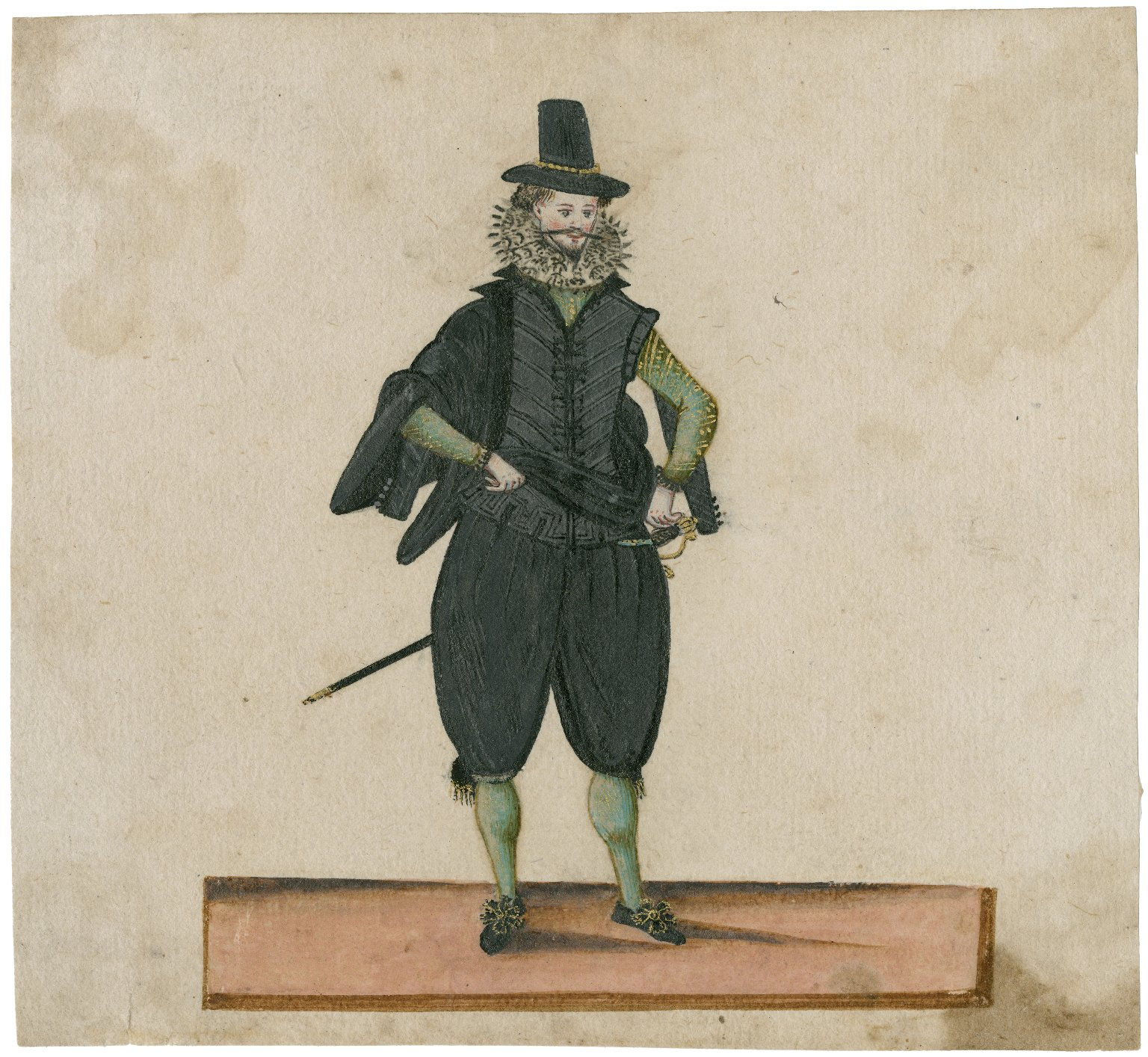 [Royal, military and court costumes of the time of James I] [graphic] / [probably by an Italian artist].