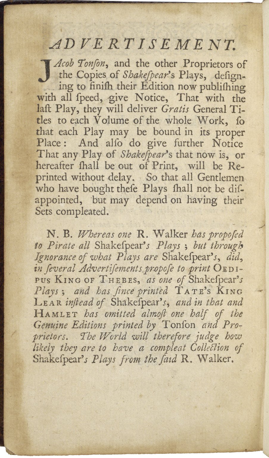 The works of Shakespeare : in eight volumes.