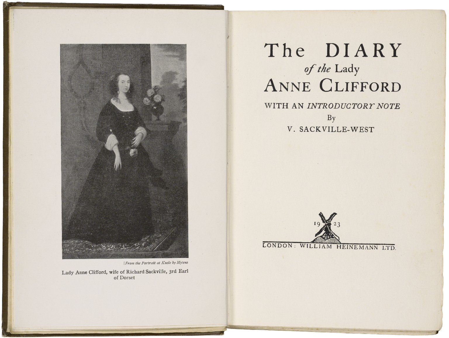 The diary of the Lady Anne Clifford, with an introductory note by V. Sackville-West.