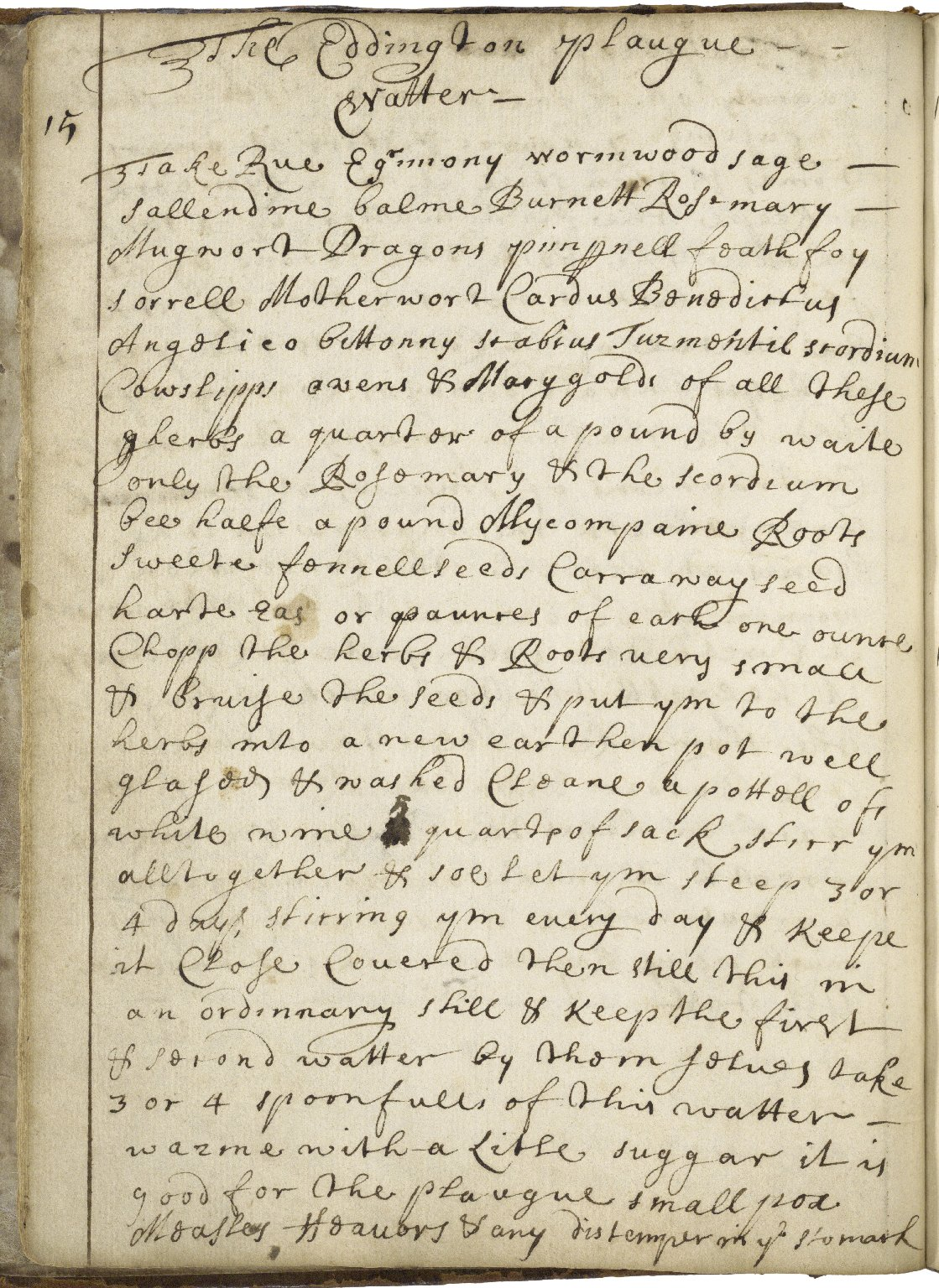 Receipt book of Penelope Jephson [manuscript], 1671, 1674/5.