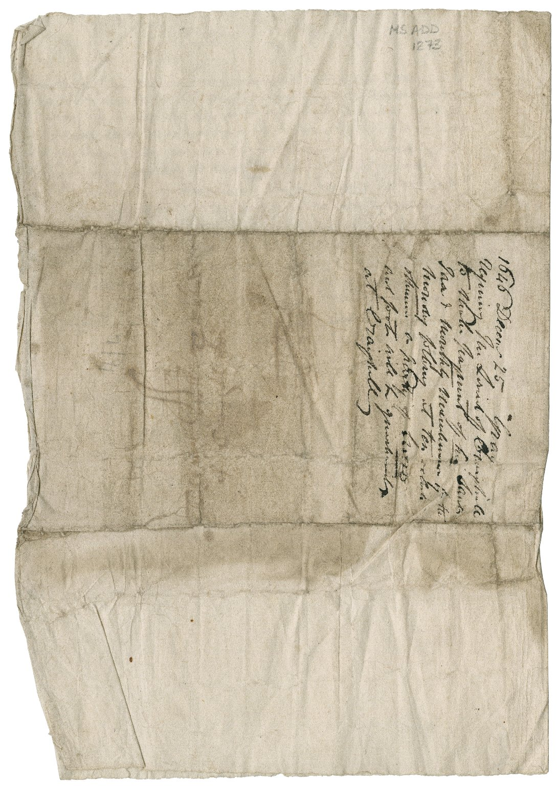 Letter from J. Gray to David Rattray of Craighall, Coupar Angus