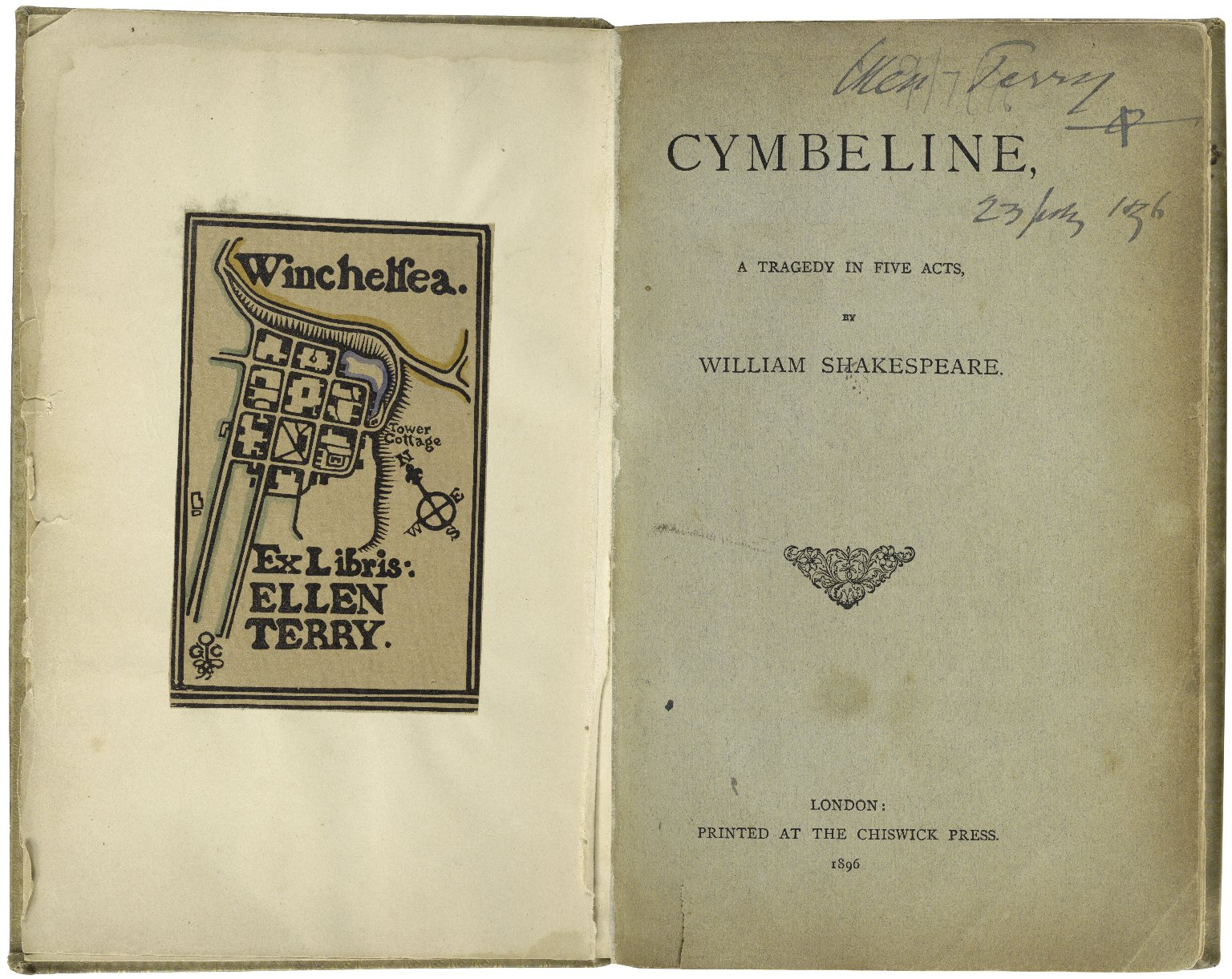 [Cymbeline] Cymbeline : a comedy in five acts / by William Shakespeare ; as arranged for the stage by Henry Irving and presented at the Lyceum Theatre on Tuesday, 22nd September, 1896.