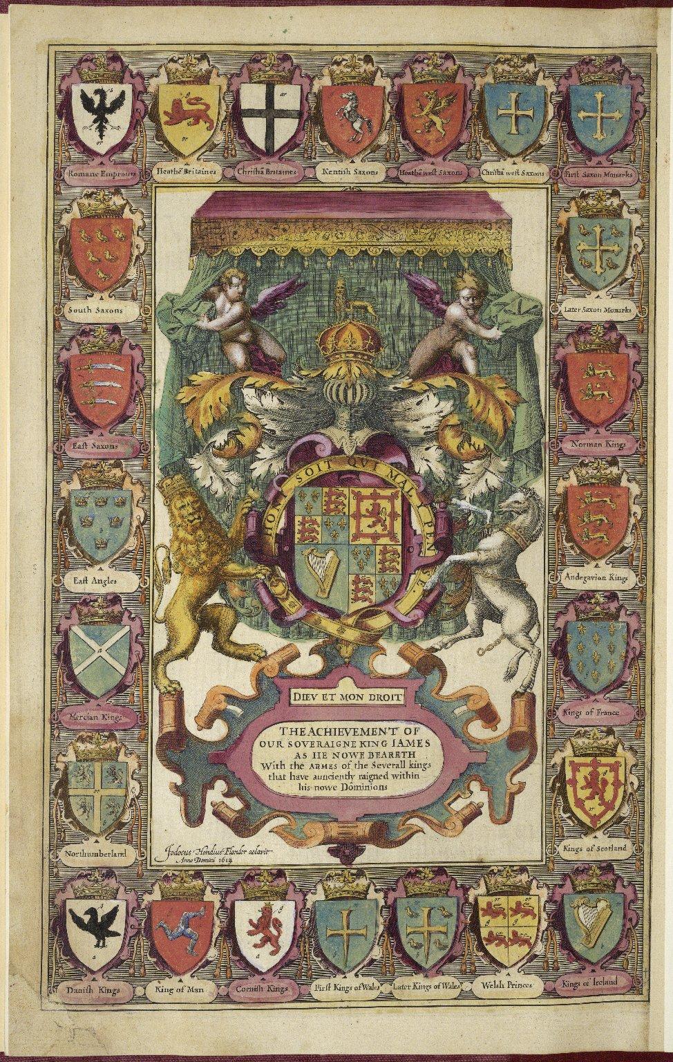 [Theatre of the Empire of Great Britaine. Latin] Theatrum imperii Magnæ Britanniæ; exactam regnorum Angliæ Scotiæ Hiberniæ et insularum adiacentium geographia[m] ob oculos ponens: vna cum comitatibus, centurijs, vrbibus et primarijs comitatum oppidis intra regnum Angliæ, divisis et descriptis. Opus, nuper quidem à Iohanne Spédo cive Londinensi Anglicè conscriptum: nunc verò, à Philemone Hollando, apud Coventrianos medicinæ doctore, Latinitate donatum.