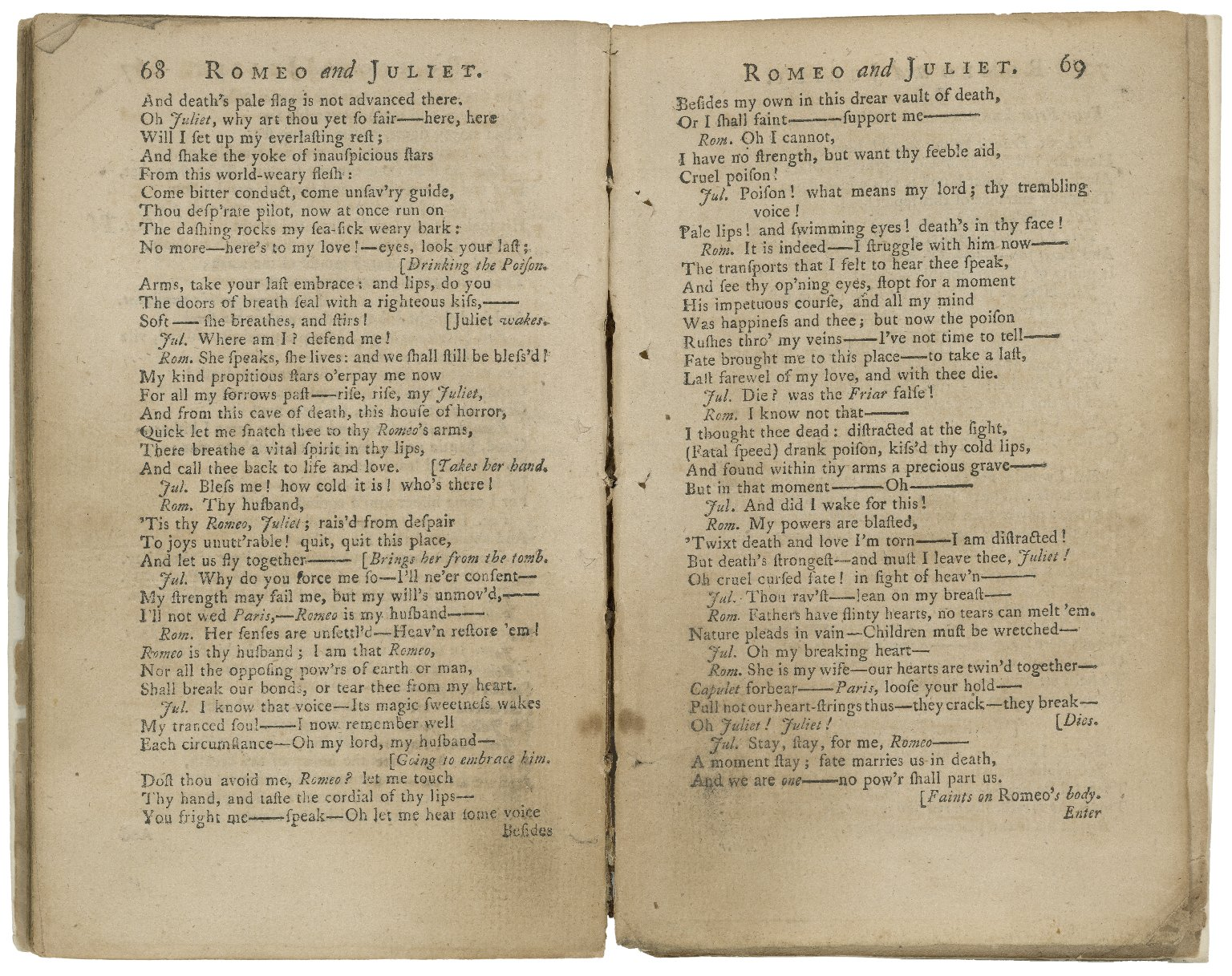 Romeo and Juliet ... with alterations, and an additional scene / by D. Garrick. As it is performed at the Theatre-Royal in Drury-Lane.
