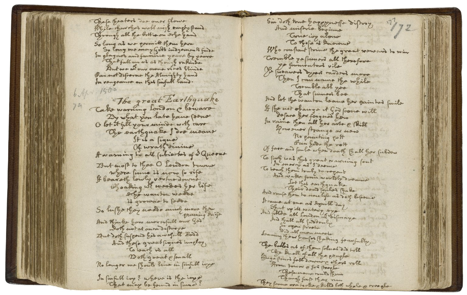 Miscellany of Joseph Hall [manuscript], ca. 1650.