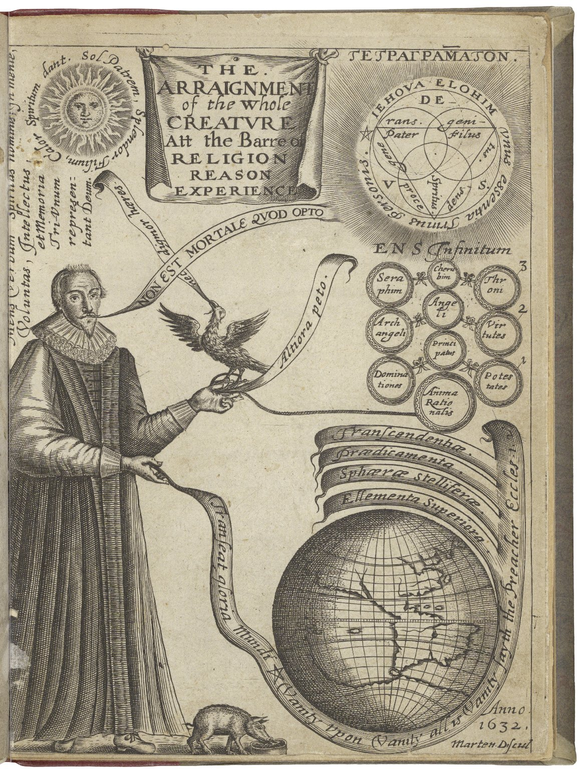 The arraignement of the vvhole creature, at the barre of religion, reason, and experience. Occasioned vpon an inditement preferred by the soule of man against the prodigals vanity and vaine prodigality. Explained, applyed, and tryed in the historie and mi