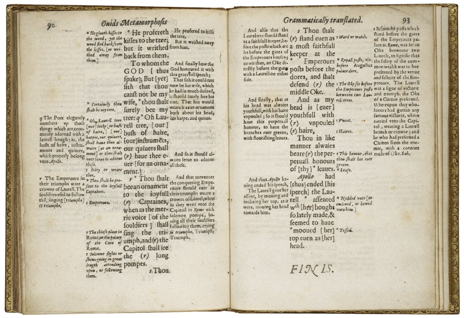 [Metamorphoses. Liber 1. English] Ouids Metamorphosis translated grammatically, and also according to the propriety of our English tongue, so farre as grammar and the verse will well beare. Written chiefly for the good of schooles, to be vsed according to the directions in the preface to the painefull schoole-master, and more fully in the booke called Ludus Literarius, or the Grammar-schoole, Chap. 8.