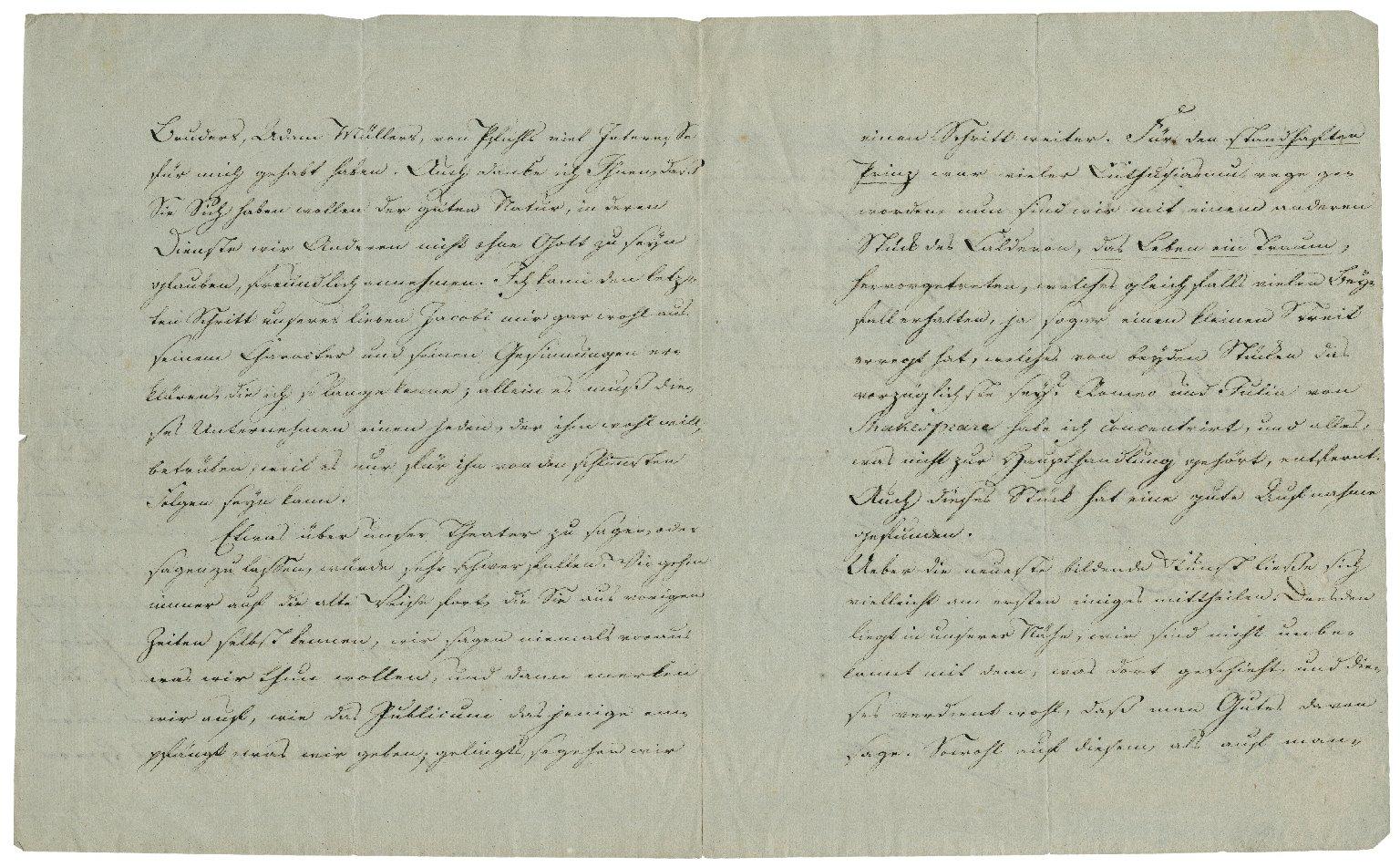 Letter signed from Johann Wolfgang von Goethe, Weimar, to Friedrich von Schlegel, editor and publisher of Deutches museum, Vienna [manuscript], 1812 April 8.