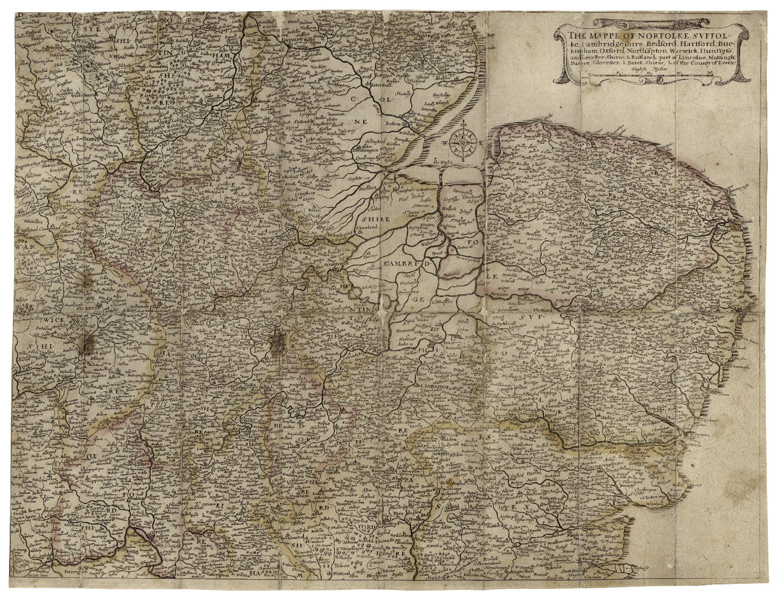 The kingdome of England & principality of Wales, exactly described : whith [sic] euery sheere, & the small townes in euery one of them, in six mappes, portable for euery mans pocket, ...