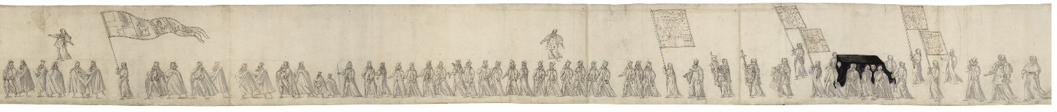 [Funeral procession of Sir Christopher Hatton] [graphic].