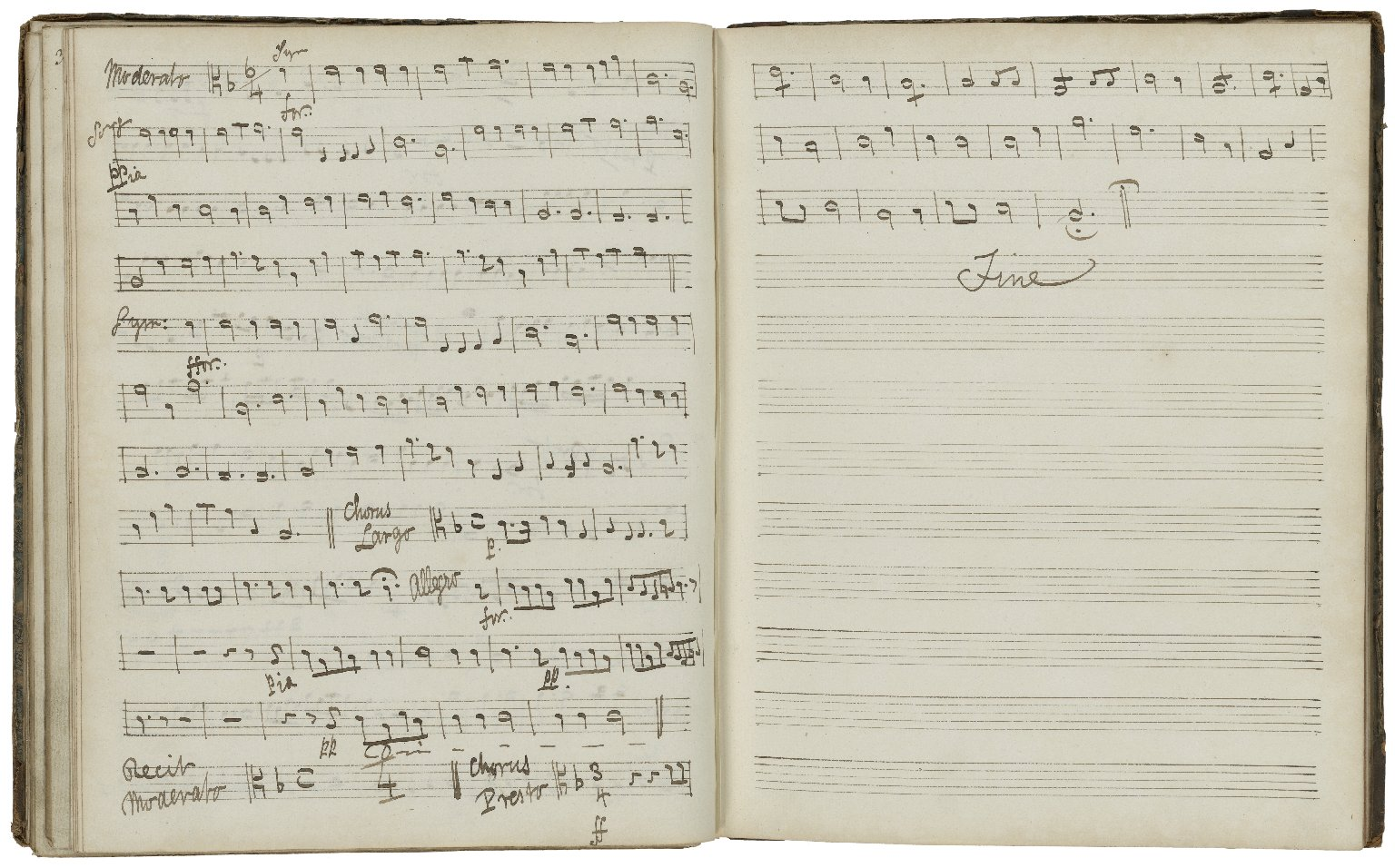 Collection of songs arranged for use by the Oxford Music Room chorus and orchestra [manuscript].