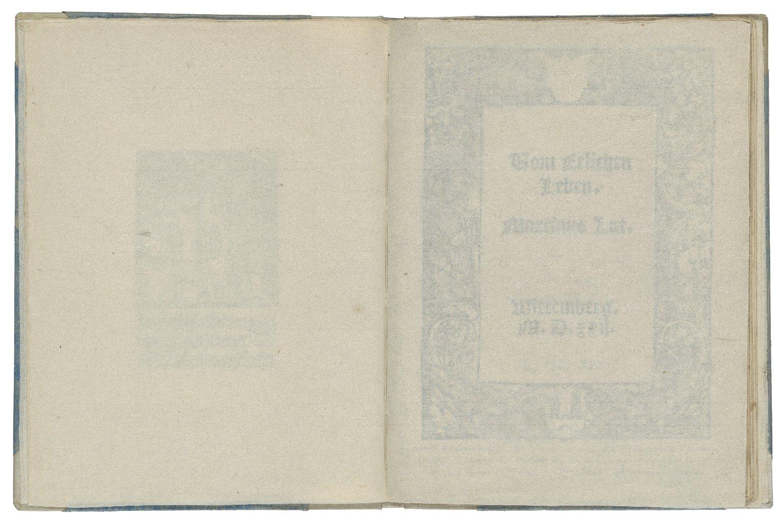 [Vom ehelichen Leben] Uom Eelichen Leben / Martinus Lut.