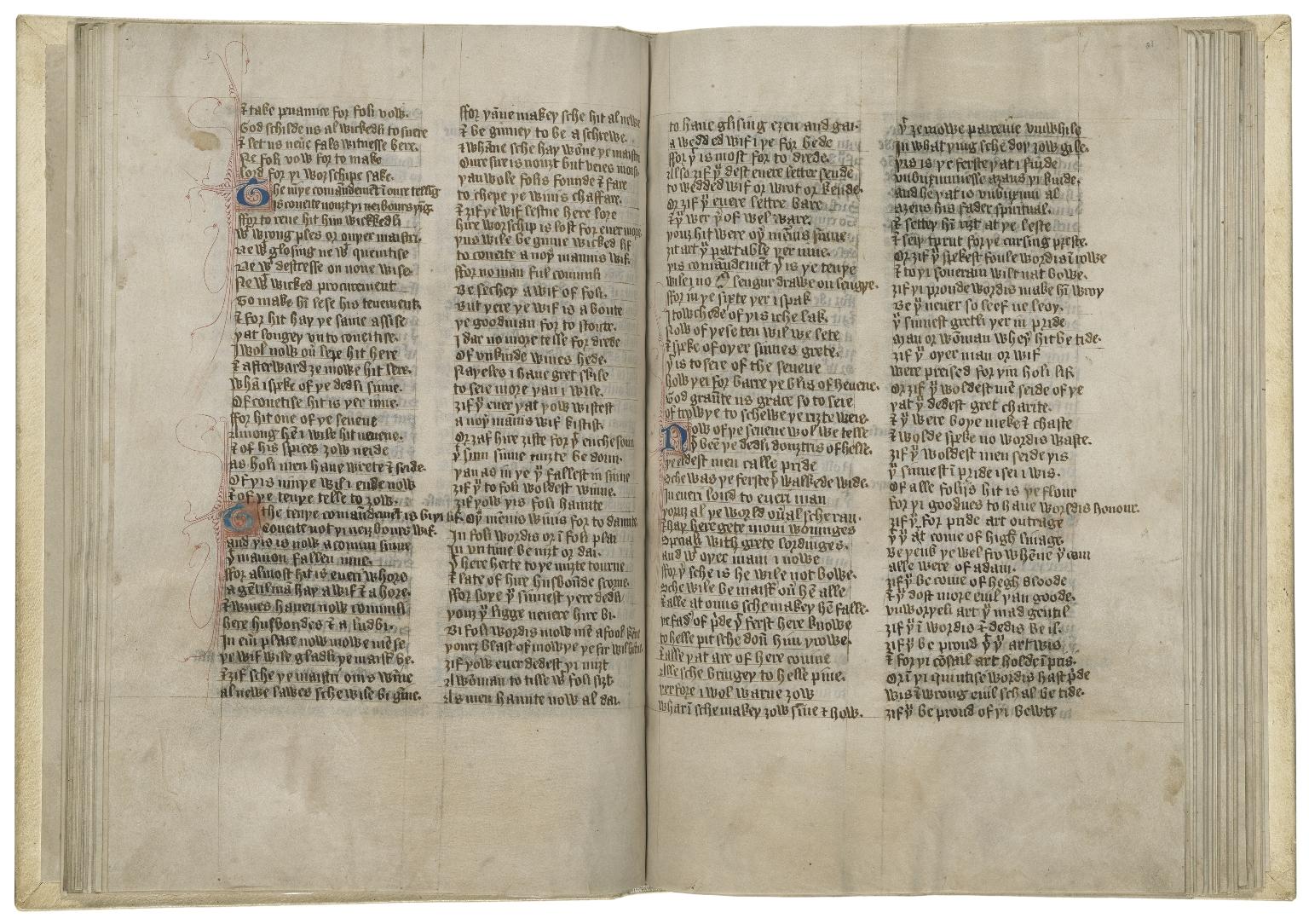 [Handlyng synne] The book called Handelyng off synne, 1303 [manuscript], copy of ca. 1400.