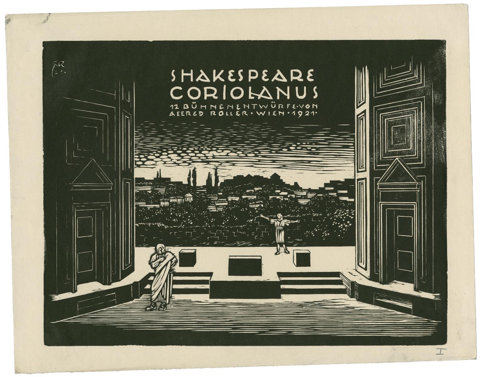 Shakespeare Coriolanus : 12 Buhnenentwurfe von Alfred Roller. [graphic]