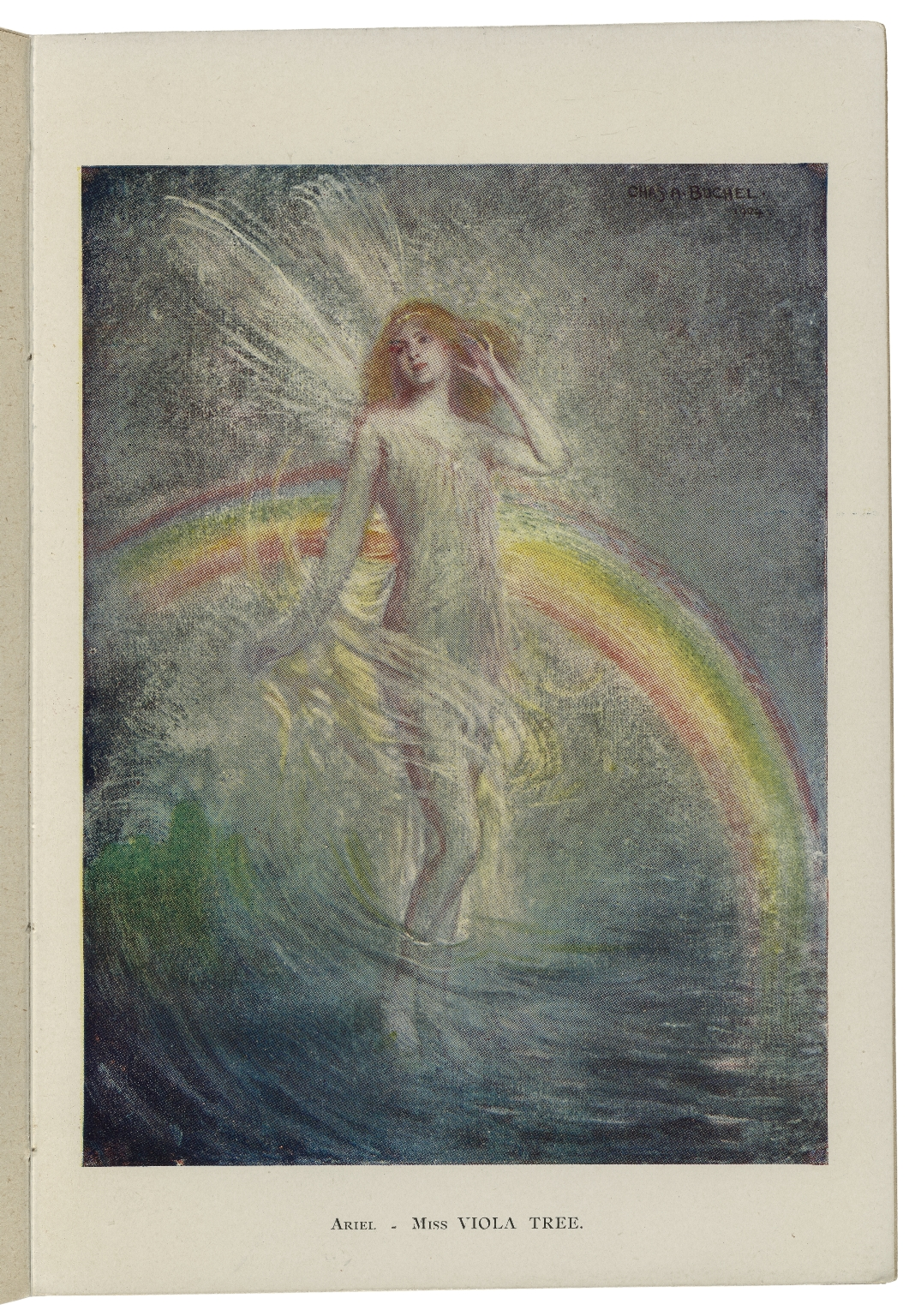 The tempest / as arranged for the stage by Herbert Beerbohm Tree ; with illustrations from original oil sketches by Charles A. Buchel.