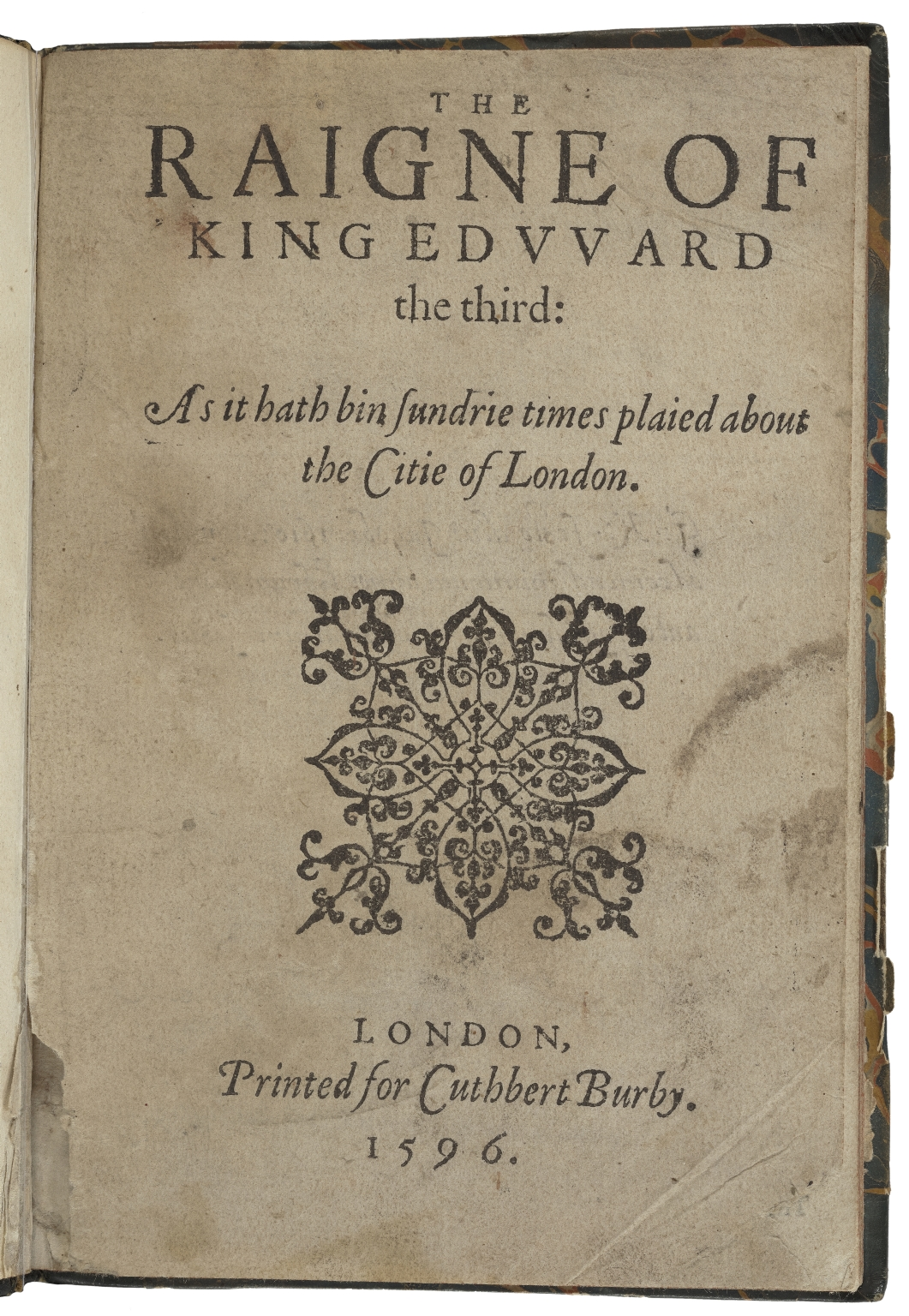 Edward III (Drama) The raigne of King Edvvard the third: as it hath bin sundrie times plaied about the citie of London.