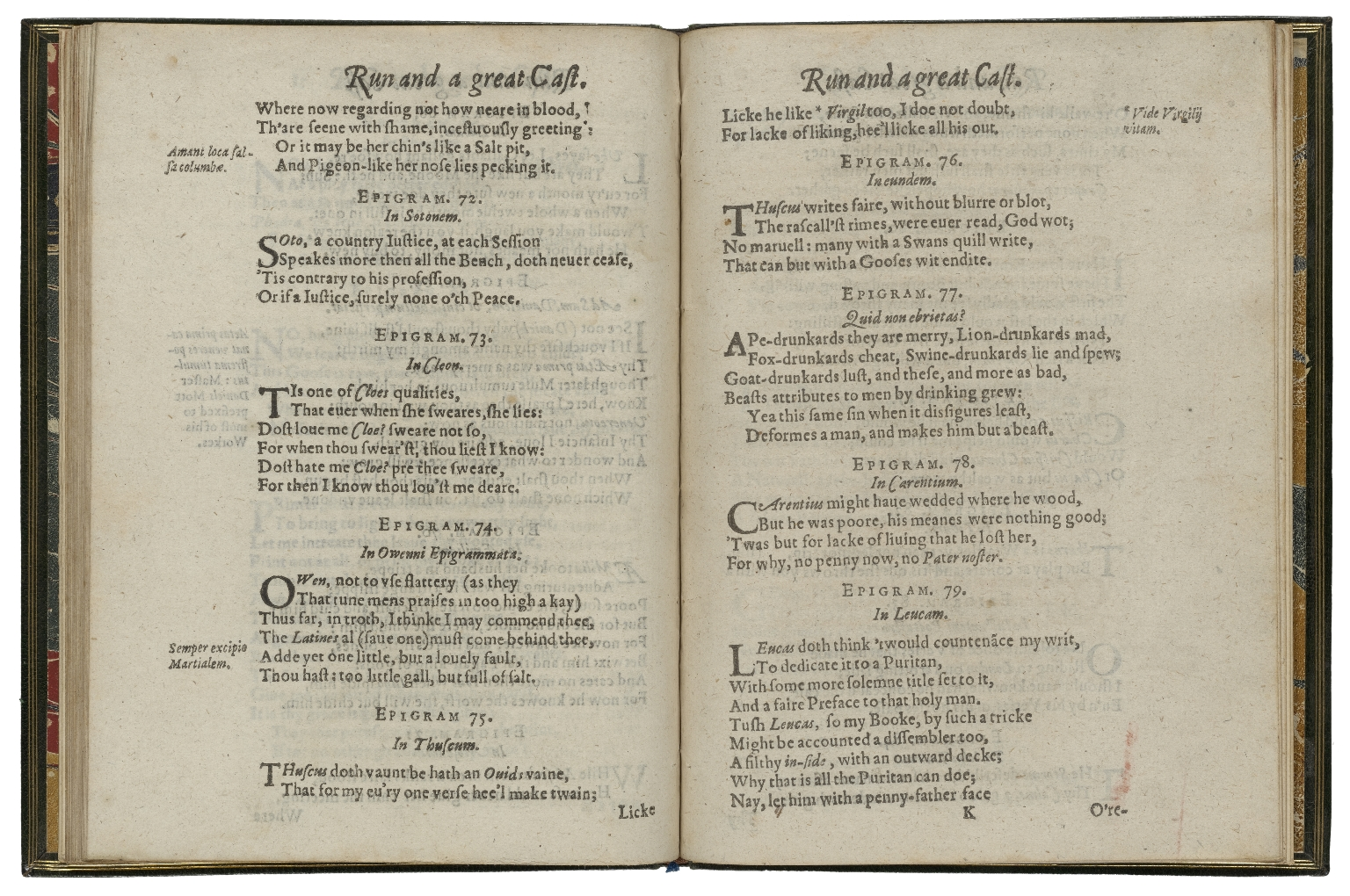 Rubbe, and a great cast. Epigrams. By Thomas Freeman, Gent.
