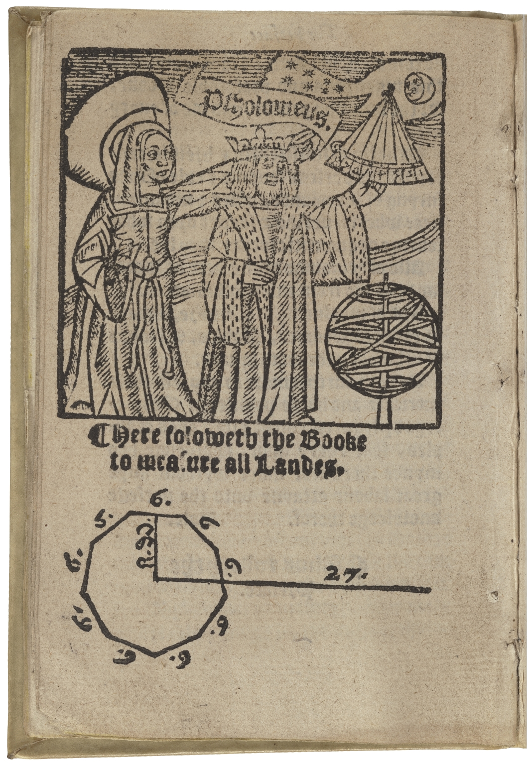 The boke of measuryng of landeas well of woodland as plowland, & pasture in the feelde: & to compt the true nombre of acres of the same. Newly corrected, & compiled by Sir Richarde de Benese.
