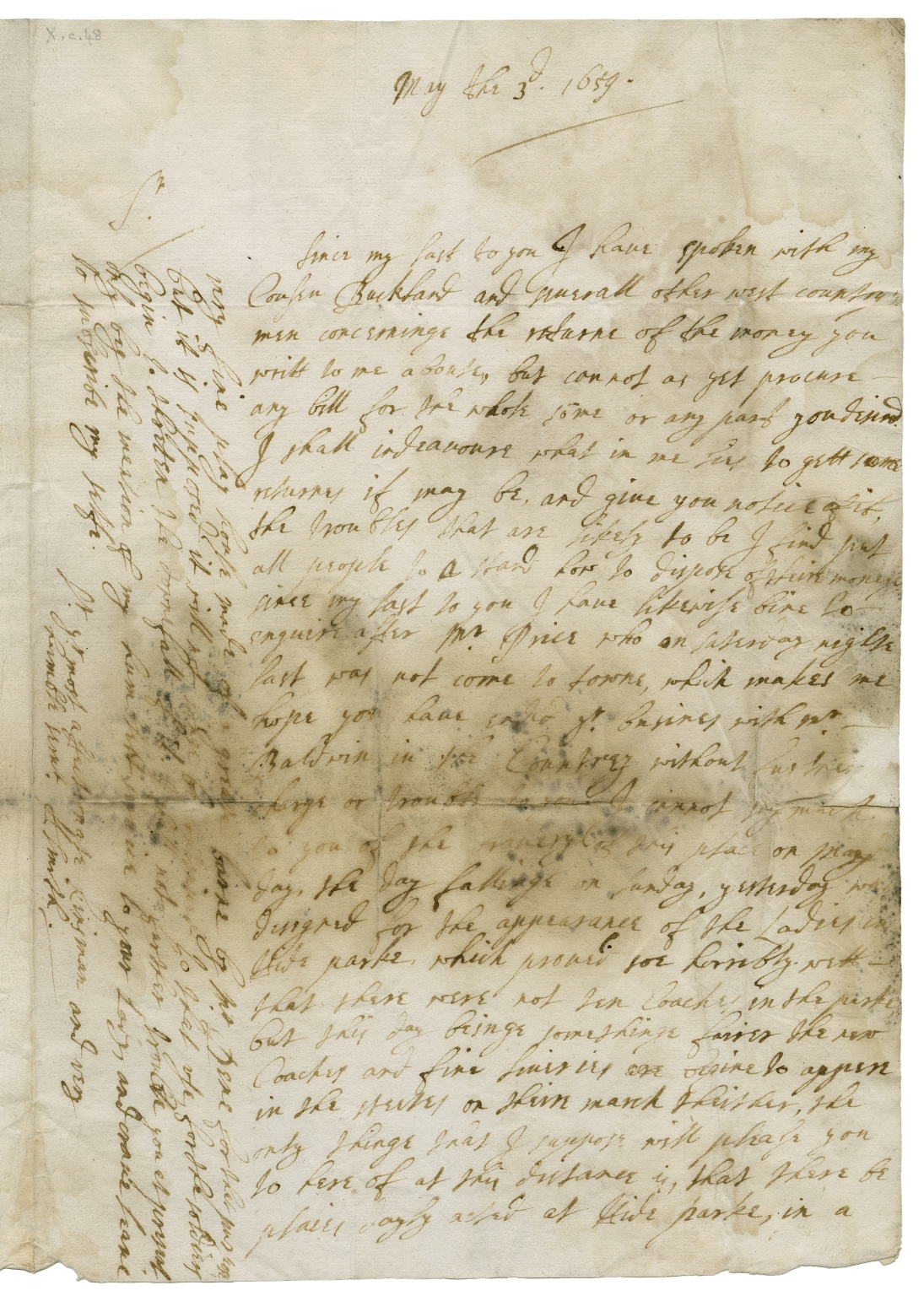 Autograph letter signed from H. Smith, [London], to Hugh Smith of Long Ashton, near Bristol