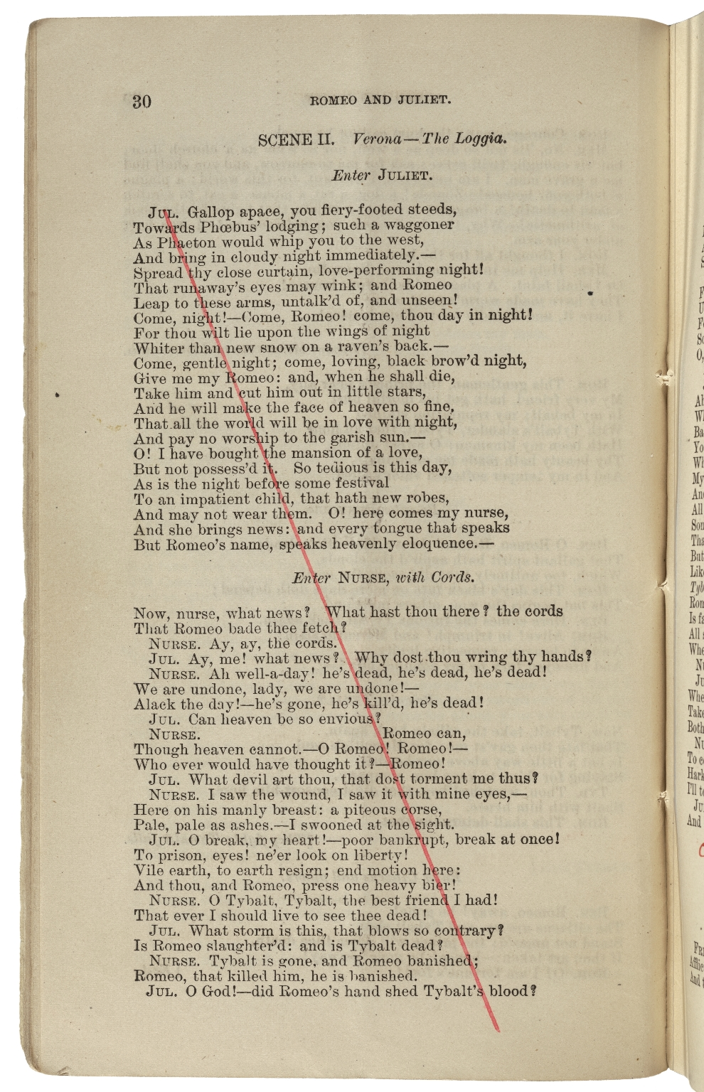 [Romeo and Juliet] Romeo and Juliet : a tragedy in five acts / by William Shakespeare ; as arranged for the stage by Henry Irving and presented at the Lyceum Theatre, London on Wednesday, March 8th, 1882.